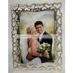 Esküvői fém képkeret 10x15 cm