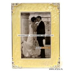 Esküvői fém kézzel polírozott képkeret 10x15 cm