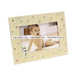Baby fém kézzel polírozott képkeret 10x15 cm