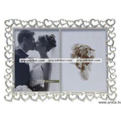 Esküvői dupla képkeret 13x18 cm