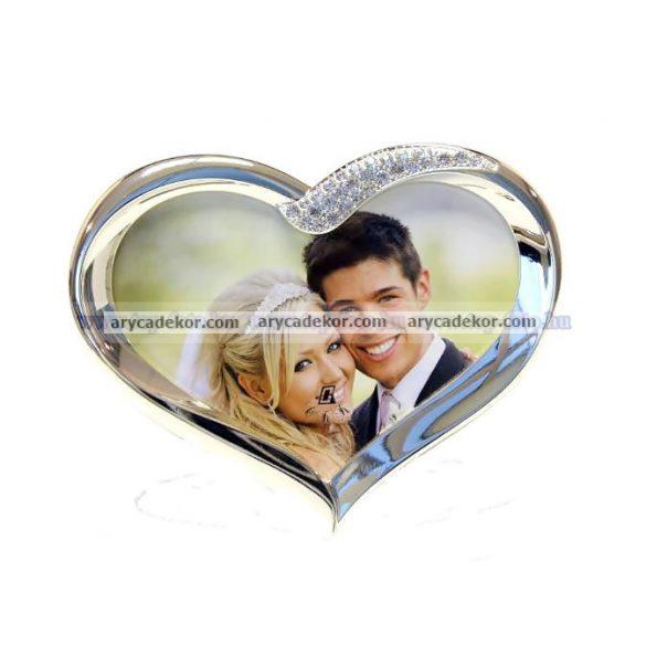 Esküvői szív alakú fényképtartó