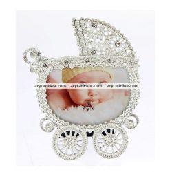 Baby fém képkeret 9x6 cm