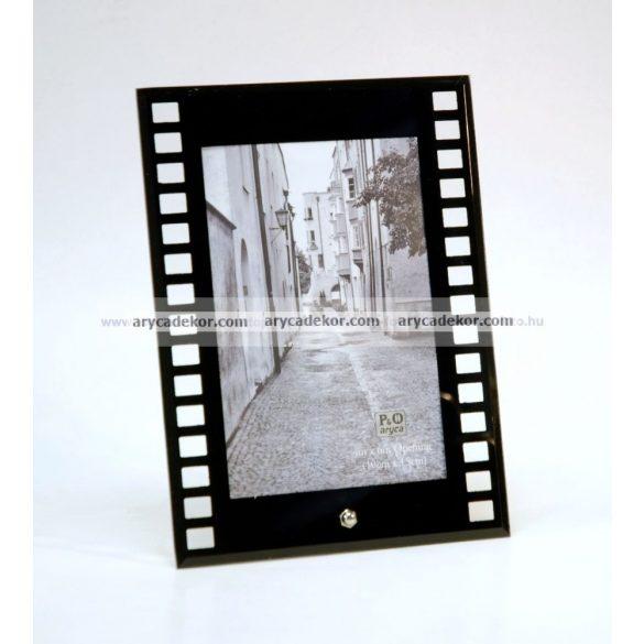 """Álló üveg képkeret 10x15 cm """"film"""""""
