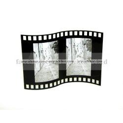 """Álló hajlított hullámos dupla festett üveg képkeret 10x15 cm/2 db """"film"""""""