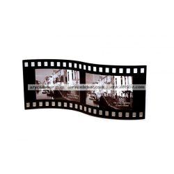 """Fekvő hajlított hullámos dupla festett üveg képkeret 9x13 cm/2 db """"film"""""""