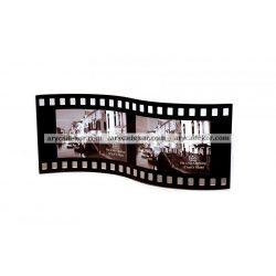 """Fekvő hajlított hullámos dupla festett üveg képkeret 10x15 cm/2 db """"film"""""""