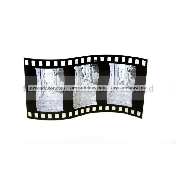 """Álló hajlított tripla üveg képkeret 10x15 cm/3 db """"film"""""""