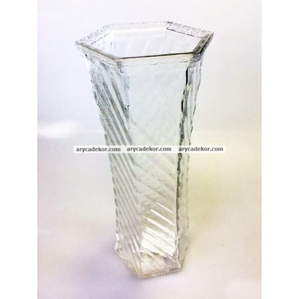 Üveg váza csavart