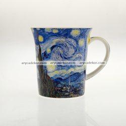 Porcelán bögre Van Gogh : Csillagos éj mintával 400 ml