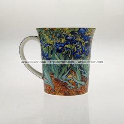 Porcelán bögre Van Gogh : Íriszek mintával 400 ml
