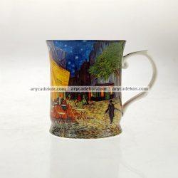 Porcelán bögre Van Gogh : Éjjeli kávézó mintával 400 ml