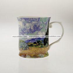 Porcelán bögre Van Gogh : Ciprusok mintával 400 ml