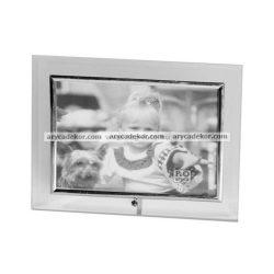 Fekvő üveg képkeret 13x18 cm
