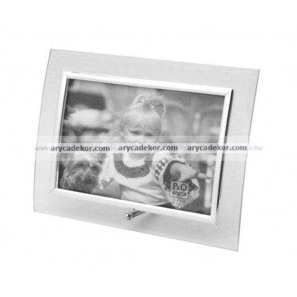 Fekvő hajlított üveg képkeret 13x18 cm