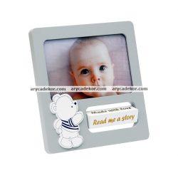 Baby MDF fa képkeret 10x15 cm