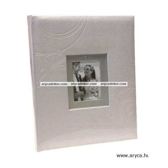 Esküvői beragasztós (fotósarkos) fotóalbum 60 oldal 24x29 cm