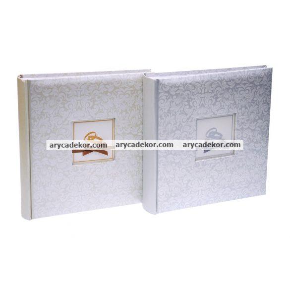 Fotóalbum esküvői bedugós melléírhatós 10x15 cm/200 db