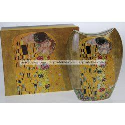 Porcelán váza Klimt mintával 20,3 cm