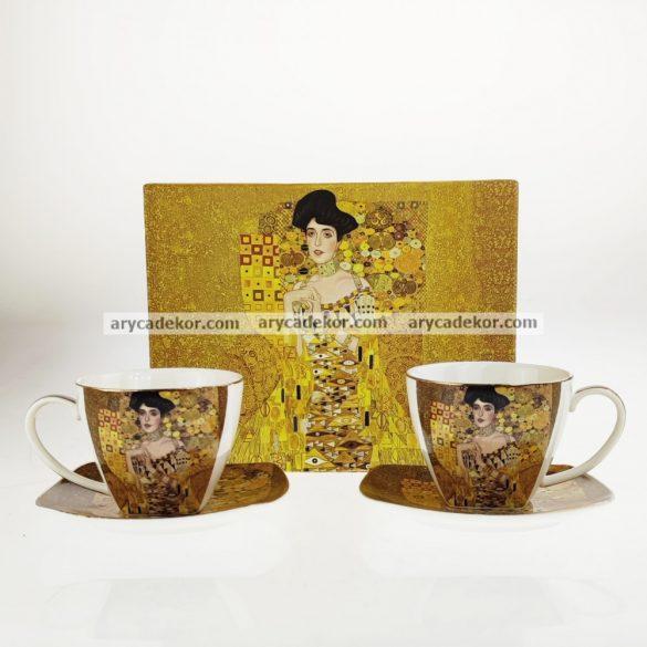 Klimt porcelán eszpresszókészlet díszdobozban.