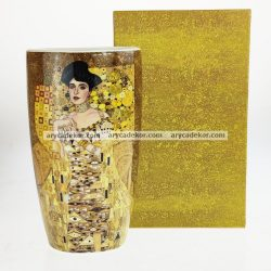 Gustav Klimt porcelán váza díszdobozban