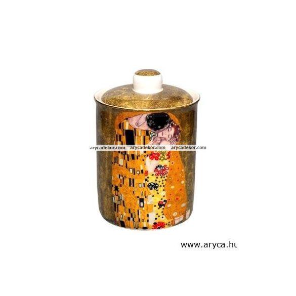 Gustav Klimt porcelán konyhai tároló díszdobozban