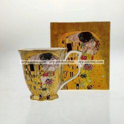 Porcelán bögre Klimt mintával 300 ml
