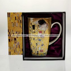 Porcelán bögre Klimt mintával 600 ml