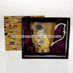 Porcelán bögre, belül liladíszcsomagolásban 300 ml