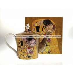 Porcelán teáskanna Klimt mintával