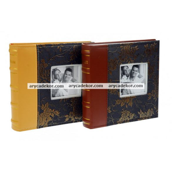Fotóalbum bedugós bőrhatású 10x15 cm/200 db
