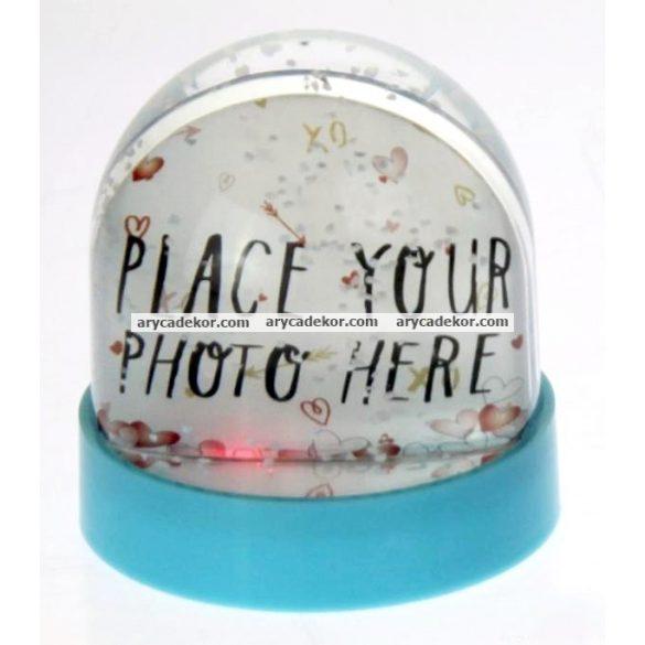 Műanyag fotógömb (szívecskés)