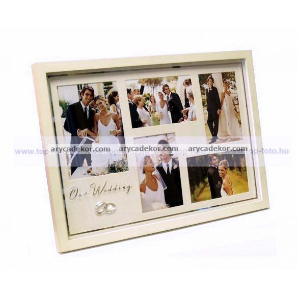 Esküvői fali montázs képkeret