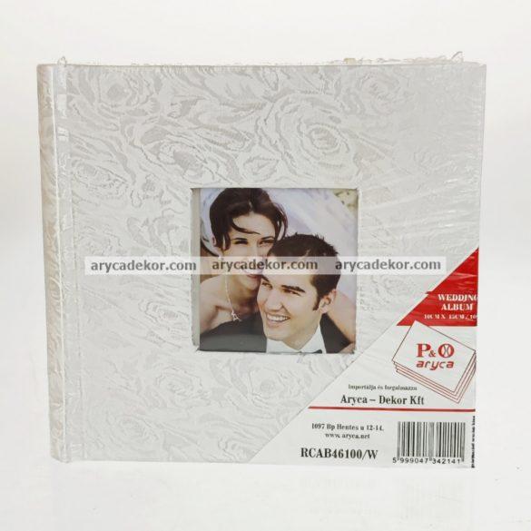 Esküvői bedugós fotóalbum melléírhatós könyvkötéssel varrott oldalak 10x15 cm/100 db