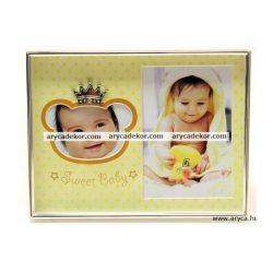 Baby fém dupla képkeret 9x13 cm