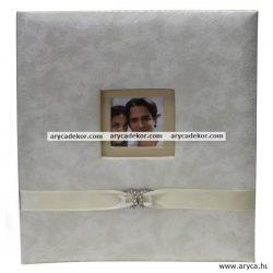 Bőrhatású bedugós esküvői fotóalbum 15x20 cm/200 db