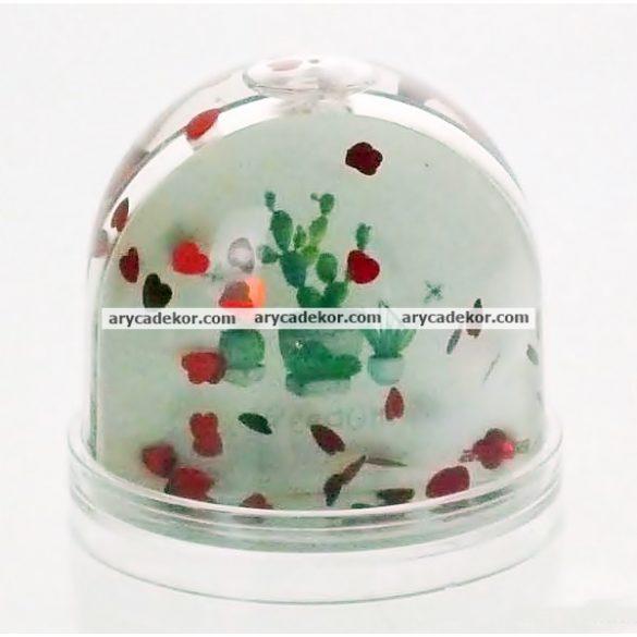 Műanyag fotógömb (szíves)