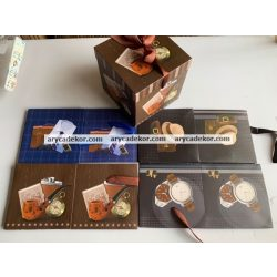 Ajándék doboz 15x15 cm (12 db/csomag)
