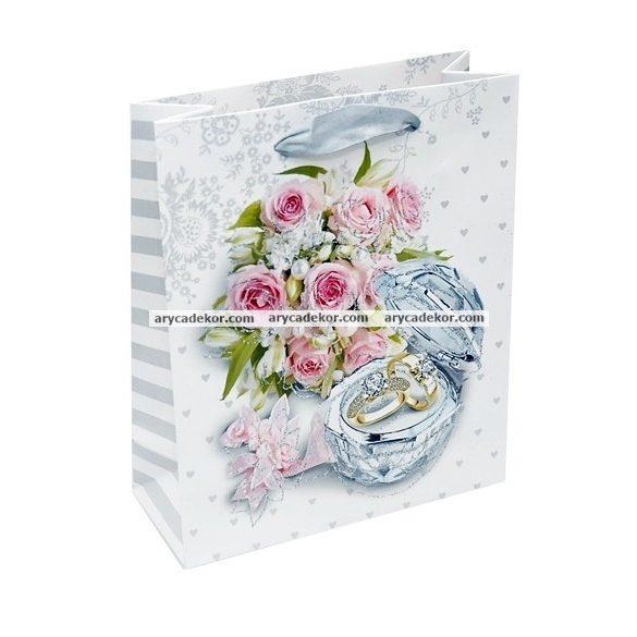 Esküvői ajándéktasak méret: közepes 12 db/csomag