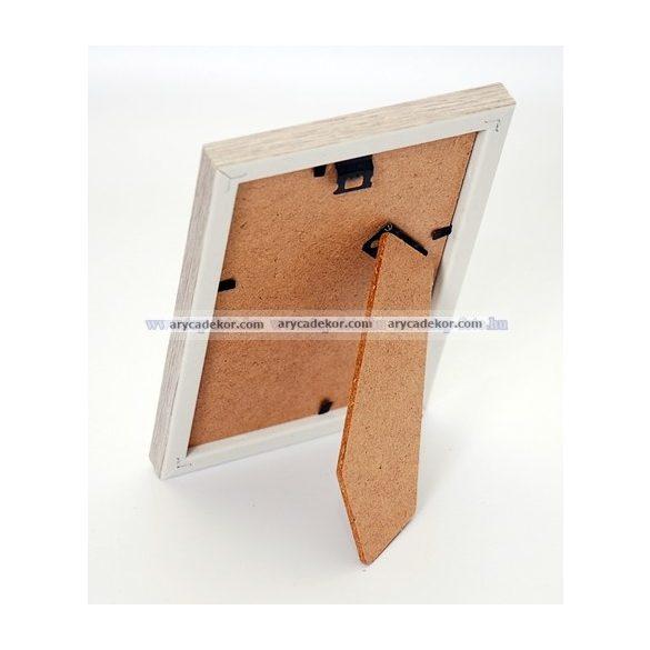 Fa hatású műanyag képkeret 15x21 cm