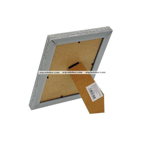 Fa hatású műanyag képkeret 10x15 cm