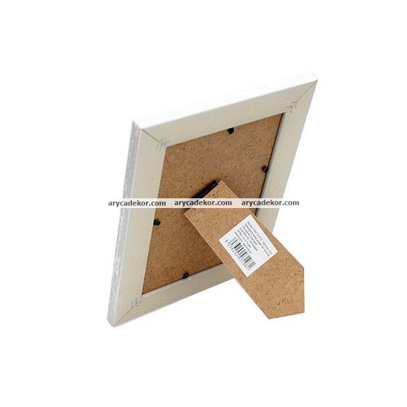 Fa hatású műanyag képkeret 15x20 cm