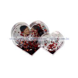 Szív alakú dupla műanyag fotógömb (szív)